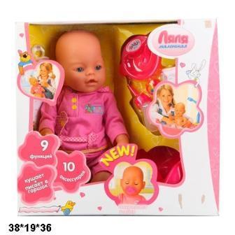 Кукла Пупс функциональный 9 функций арт.8001-4R