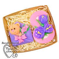 Мило набір 8 березня, вісімка, мишка в конверті, подарунок жінці, ручна робота