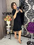 Элегантное облегающее платье со спадающей рюшей, весна 2021, разные цвета р.48-50;52-54;56-58  Код 1286Х, фото 8