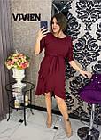 Элегантное облегающее платье со спадающей рюшей, весна 2021, разные цвета р.48-50;52-54;56-58  Код 1286Х, фото 3