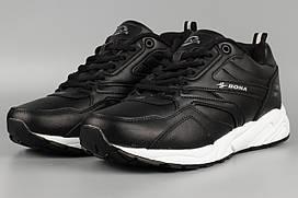 Кросівки чоловічі чорні Bona 793C Бона Розміри 41 42 43 46