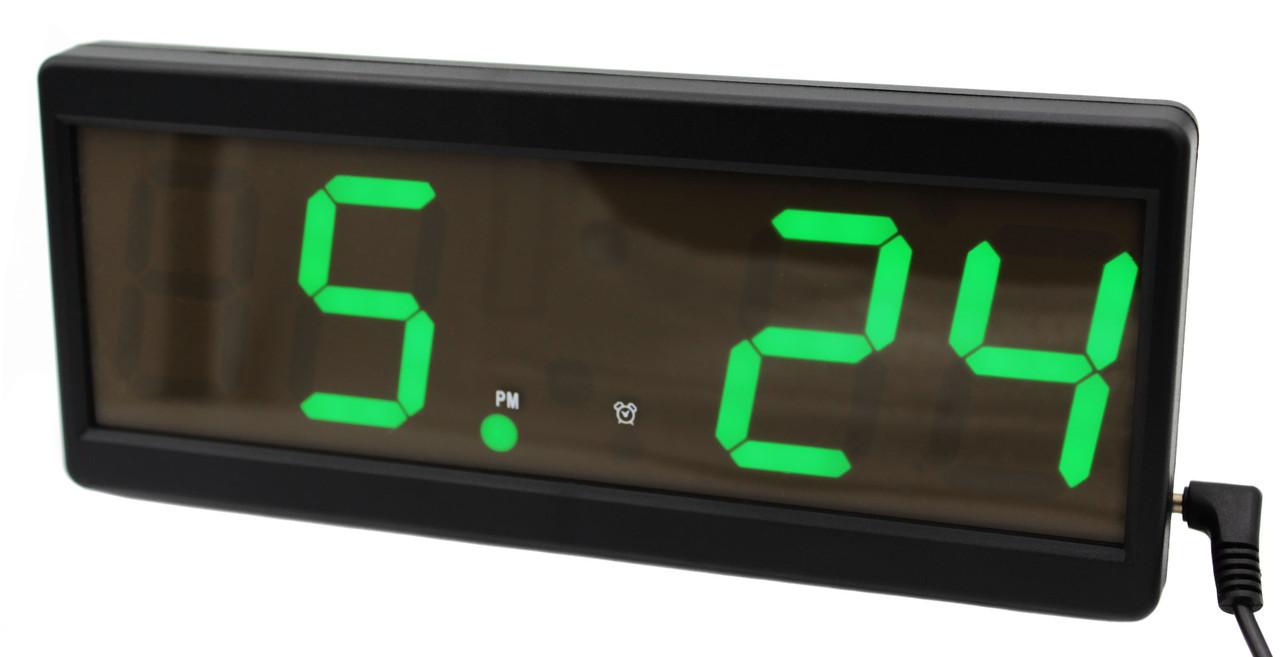 Электронный будильник  VST-2208 в розетку 220V  Зеленый