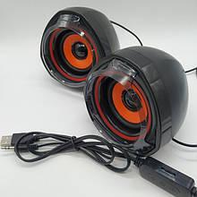 Компьютерные колонки акустика 2.0 USB A7 Чёрные