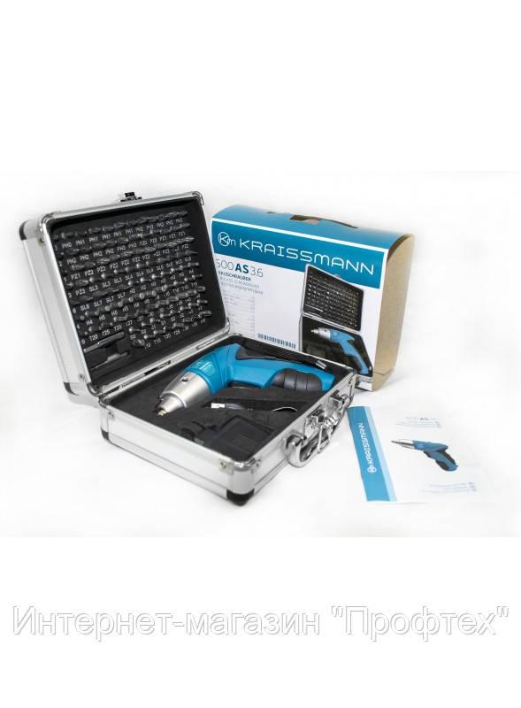 Акумуляторна электроотвертка KRAISSMANN 600 AS 3.6
