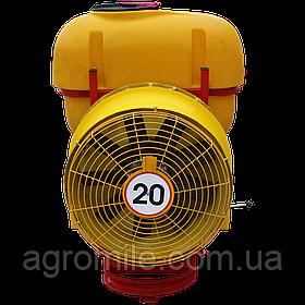 Обприскувач садовий з мідним редукторним вентилятором 300 л (мідні форсунки, Польща)