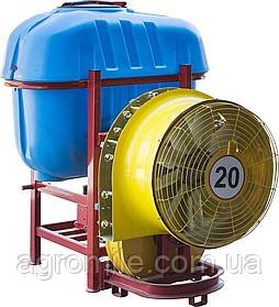 Обприскувач садовий з редукторним вентилятором і мідними форсунками 600 л (Польща)