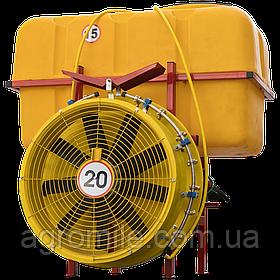 Обприскувач садовий з редукторним вентилятором і мідними форсунками 800 л (Польща)