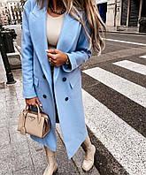 Женское кашемировое пальто миди норма и батал в расцветках