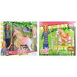 Лялька барбі з донькою на конячці і гіркою слоником, фото 2