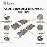 Автоковрики на Ауді Q7(4L) 2005-2015 Stingray гумові 2 штуки, фото 2