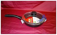 Сковорода мелкая 22 см с крышкой, фото 1