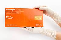 Латексные перчатки Mercator Medical Dermagel, XS (5-6), белие, неприпудренные, 100 шт