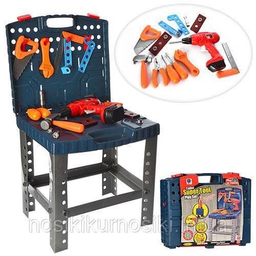 Детский набор инструментов в чемодане, 50 предметов
