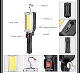Ліхтар світлодіодний акумуляторний COB LED ZJ-8859/WD357 (2 режими, магніт, гак, microUSB), фото 3