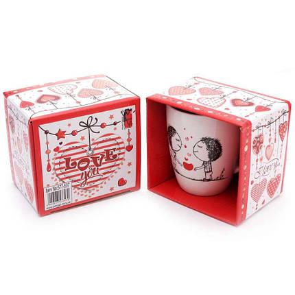 """Фарфорова Чашка для Закоханих """"Освідчення"""" ABC в подарунковій коробці (350 мл), фото 2"""
