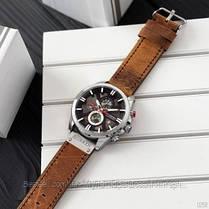 Оригинальные мужские часы c хронографом кожанный ремешок Curren 8346 Brown-Silver-Black / Часы Курен, фото 2