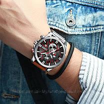 Оригинальные мужские часы c хронографом кожанный ремешок Curren 8346 Brown-Silver-Black / Часы Курен, фото 3
