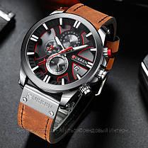 Оригінальні чоловічі годинники сталевий ремінець Curren 8363 Blue-Cuprum / Годинник паління від різних фірм., фото 3