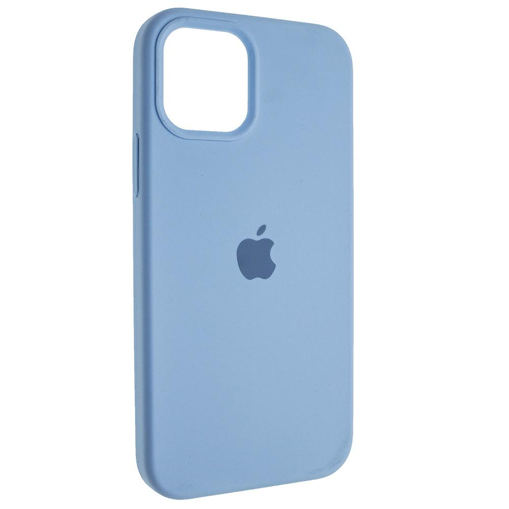 """Чохол Full Silicon iPhone 12 - """"Небесно-блакитний №43"""""""