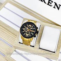 Оригінальні чоловічі годинники сталевий ремінець Curren 8336 Silver-Black / Годинник паління від різних фірм., фото 3