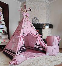 Вигвам Элит Полный комплект с КОРЗИНОЙ! Вигвам детский, детский вигвам, детская палатка, детский домик