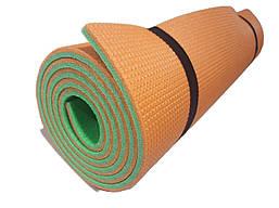 Коврик каремат «Турист» 1800×600×10мм двухслойный оранжевый/зеленый