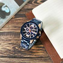 Оригинальные мужские часы хронограф стальной ремешок Curren 8336 Blue-Cuprum / Часы Курен, фото 3