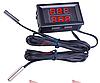 Подвійний термометр з LED дисплеєм і двома щупами - червоний синій, фото 2