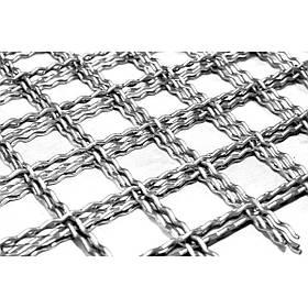 Канилированная сетка сложно-рифленая  25х25х2 мм