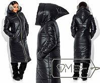 """Женское тёплое пальто на синтепоне """"Капюшон Скоморох"""""""