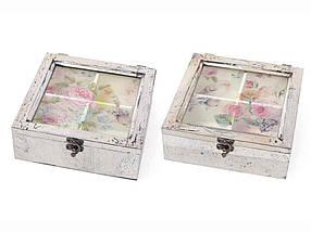Коробка для чаю BonaDi Птиці 20*21 см (487-311)