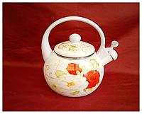 Чайник эмалированный со свистком 2 л