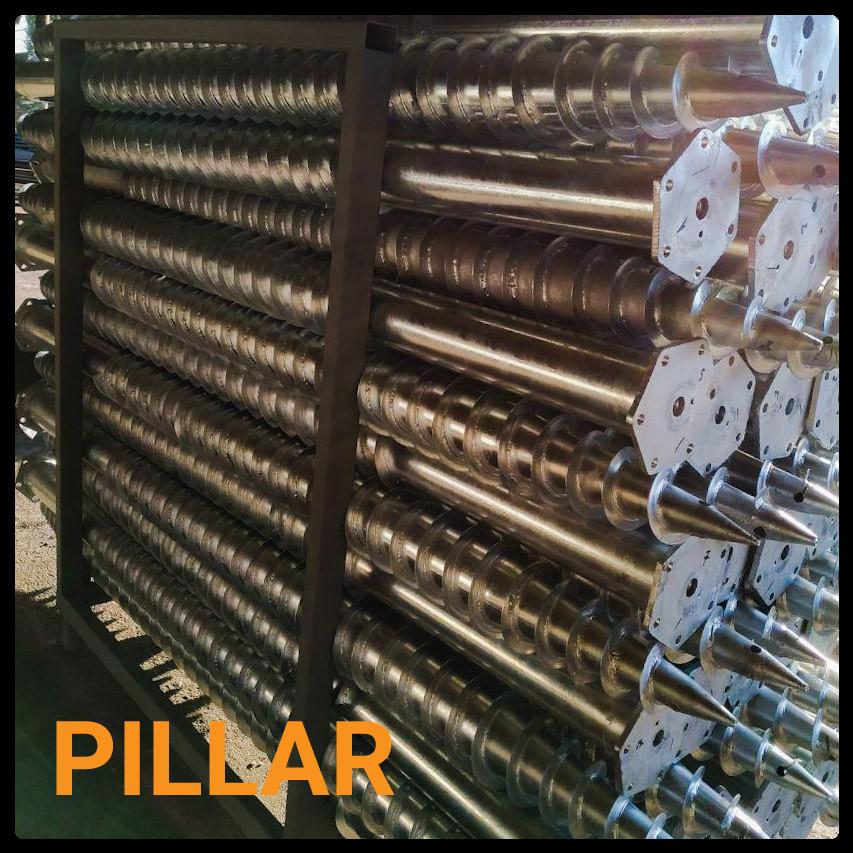 Геошуруп ПИЛЛАР - FH 76x3x3000 мм t 1050 мм горячеоцинкованная фундаментная свая