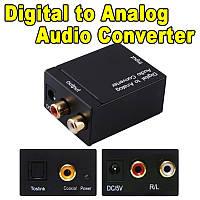 Конвертер ЦАП | Цифро-аналоговый преобразователь цифровой оптики S/PDIF в аналог | аудио декодер звука адаптер
