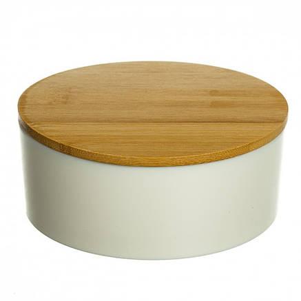 Шкатулка - дзеркало з бамбуковою кришкою 12,2 см (0500-012), фото 2
