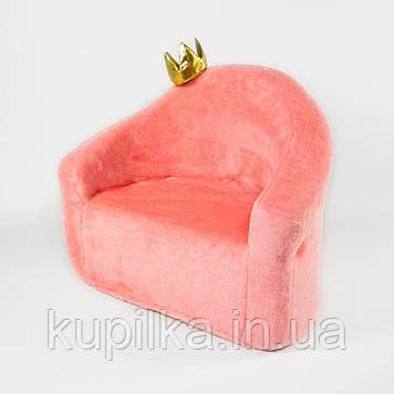 Детское кресло Zolushka Принцесса 50см розовое (ZL450)