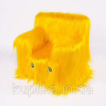 Детский Стульчик Zolushka Пушистик 43см жёлтый (ZL6265)