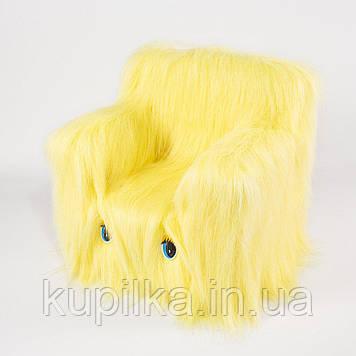 Детский Стульчик Zolushka Пушистик 43см банановый (ZL6266)