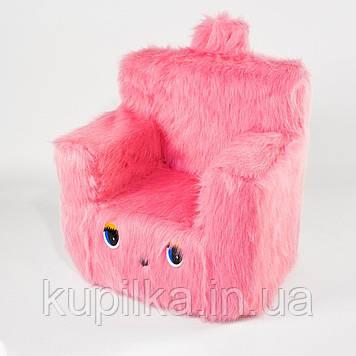Детский Стульчик Zolushka Пушистик 43см розовый (ZL6263)