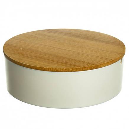 Шкатулка- зеркало с бамбуковой крышкой 15,2 см (0500-011), фото 2