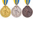 Медаль наградная для бильярда Бильярдист с лентой (1 место, золото)  ø5см, фото 4