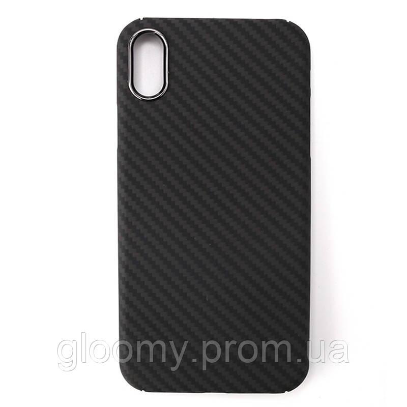 Карбоновий чохол - накладка для Apple iPhone X Black