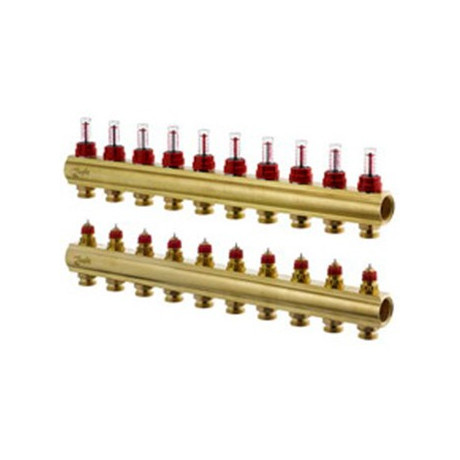 Колектор Danfoss FHF-4F з витратомірами 4+4