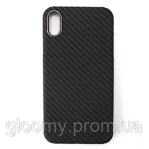 Карбоновий чохол - накладка для Apple iPhone XS Black Max