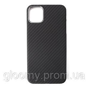 Карбоновий чохол - накладка для Apple iPhone 11 pro Black