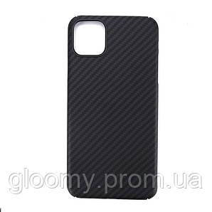 Карбоновий чохол - накладка для Apple iPhone 11 pro Max Black