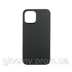 Карбоновий чохол - накладка для Apple iPhone 12 /12 pro Black