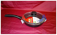 Сковорода с антипригарным покрытием 26 см с крышкой