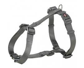 Шлея Trixie Premium XXS-XS, для собак, 20-32 см, 10 мм, графітовий