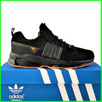Кроссовки Мужские Adidas Черные Адидас (размеры: 42,43,44) Видео Обзор